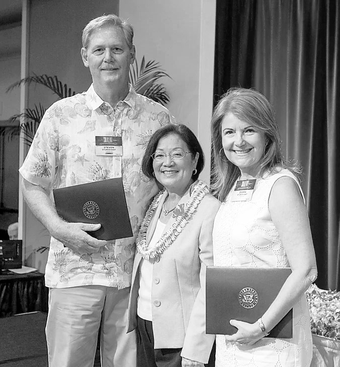Sturdevant Air at The 2016 Hawaii Small Business Awards with Senator Mazie Hirono